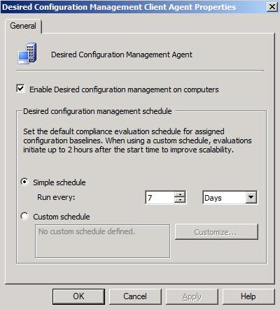 Desired Configuration Management Client Agent Properties